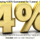 5 Year MYGA paying 4.00% Guaranteed for 5 years!